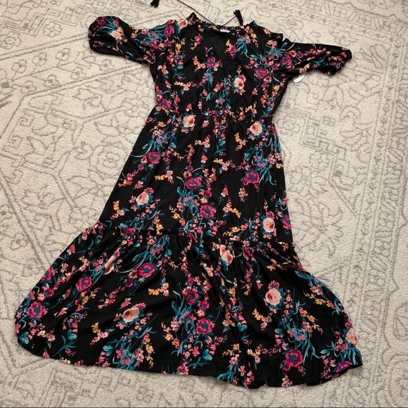 jcpenney Dresses   Floral Maxi Dress Plus 1x Black   Poshmark